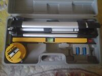 Laser level kit and case .