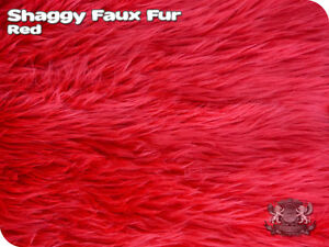 FAUX FUR SHAGGY LONG PILE HAIR Fabric / Sold by the yard