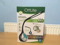 OTTLITE LED DESK LAMP WITH COLOUR CHANGING TUNNEL