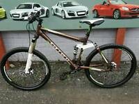 Carrera banshee x full suspension mountain bike fully working and good condition