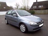 2003 Vauxhall Corsa 1.0 Elegance 5 Door Full MOT Cheap Ideal First Car Saxo Clio 106 206 Polo Punto