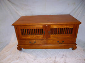 """As new TV/Video/Sky lounge cabinet. Medium pine solid wood 20""""H x 39"""" Wide x 20"""" deep.x"""
