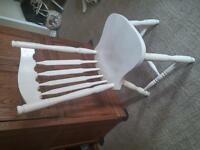 Solid White Accent Chair