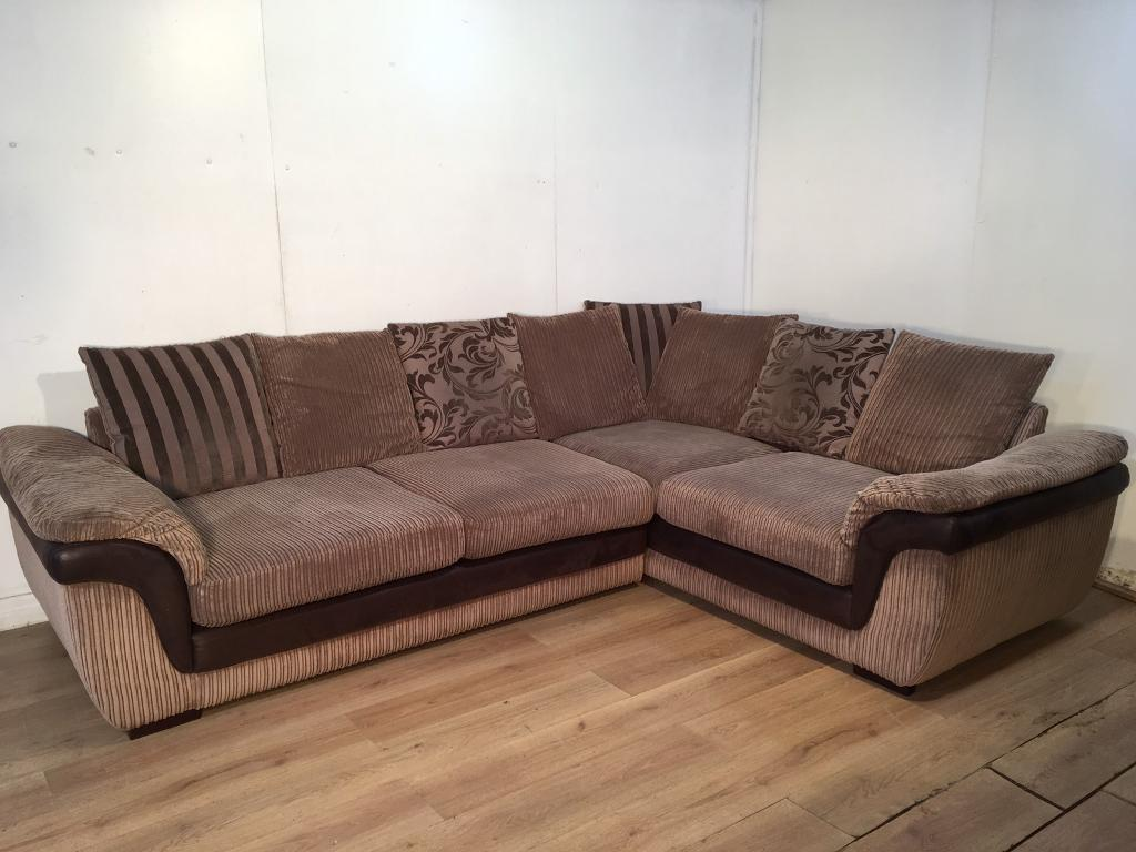 Brown Dfs Corner Sofa With Free Delivery Within 10 Miles In Rochester Kent Gumtree