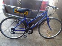 """Ladies town bike with alloy wheels good tyres 21 gears 20"""" frame soft seat and mudguards vgc gwo"""