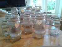 Decorated jars/ vases for wedding/ party rustic