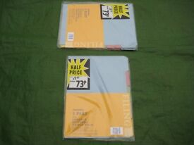 Three Triple Pack of Brand New 5 Part Foolscap File Dividers - £0.70 each or 3 for £2.00