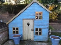 Children's Wooden 2 Storey Playhouse with Electric Light MUST COLLECT THIS WEEKEND