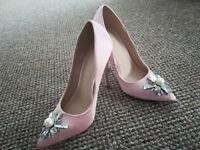 ASOS Priceless Embellished Pointed High Heels UK3