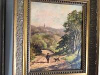 Art oil and watercolour Paintings for sale , as a group or individually, Duncan Russell, Dyer etc