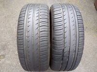 Two 205/55/16 Inch Matching Tyres 5mm