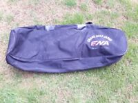 golf travel bag only used once been in garage ever since padded sides . ideal for plane travel