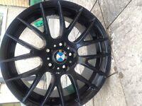 "Bmw 18"" csl m3 alloy wheel matt black et41"