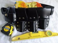 SCAFFOLDING LEATHER TOOLSET BELT WITH TOOLS