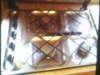 caravan / camper 3 burner stainless steel hob with grill