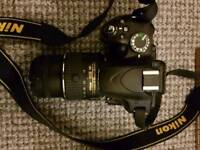 Nikon d3200 with 50mm lens and camera printer