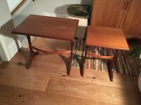 Retro vintage 1970s nest of side tables, good condition