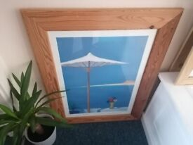 Quality Large Solid Wood Framed Picture