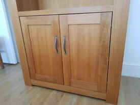 Oak Bookcase and cupboard ..from NEXT Cambridge style