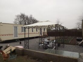 static caravan for holiday let 3 beds on site fishing & cafe