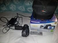 Panasonic full HD video camera Camcorder with box & case cables & SD card