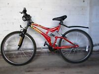 Blue /White Apollo x c24 and Red Universal Sussed Mountain Bikes