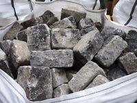 Reclaimed Random Grey Granite Cobbles | Setts | Cubes | Bagged | Tonne | Stone