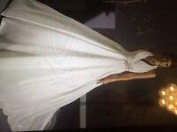 Designer wedding dress size 10 immaculate condition
