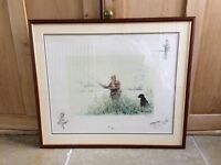Ros Goody fishing print picture