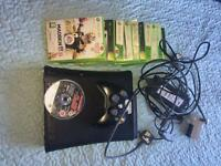 Xbox 360, including 15 Xbox games and brand new HDMI lead with double battery charger