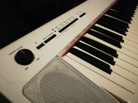 Yamaha NP32 76 Key Digital Piano - White (With book holder)