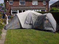 Vango Diablo 600 tent. 6 berth with foot print.