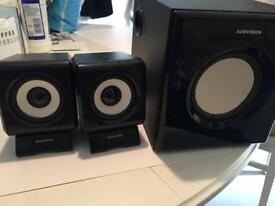 2.1 Bluetooth wired speakers