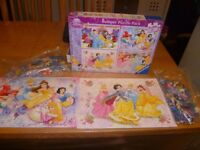 Disney Princess jigsaw Puzzle Pack 4 x 100 piece