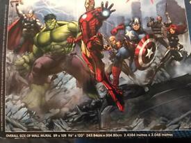 Avengers wall mural (8ft x 10ft)