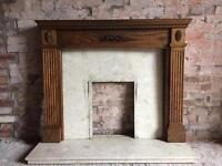 Oak Fireplace Surround and Hearth