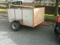 6x3 quad atv trailer with brand new flotation tyres chequered floor & sides