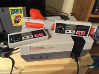 Original Nintendo NES with games and 2 controllers