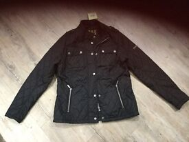 Ladies BLACK Barbour gairlochy quilt jacket new with tags size 14