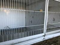 Two metal canary breeding cages for sale