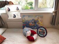 Boy's nautical (boats) themed bedroom set