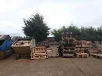 Free Pallets and Wooden boxes. Suitable for re-use or bonfires