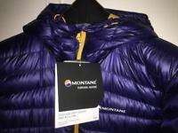 BNWT montane pro pull down jacket size large