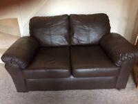 x2 2 Seater Leather Sofas