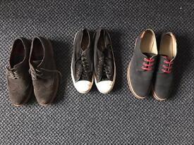 Converse uk 7.5, lacoste uk 8, riverisland uk 8 mens shoes