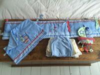 Bedding for rectangular cot, pale blue Little Treasure set