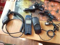 NOKIA TYPE NSM-1NY MODEL 6150 SAT, made in Finland, WITH IN CAR CHARGER, £20