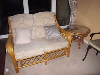 Conservatory Furniture, wicker, good condition