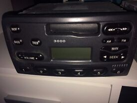 Two Ford Fiesta Radio Cassette Players