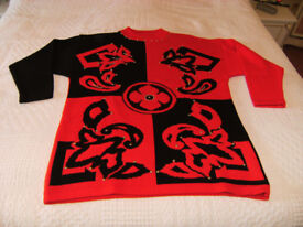 Ladies Jumper Red/Black